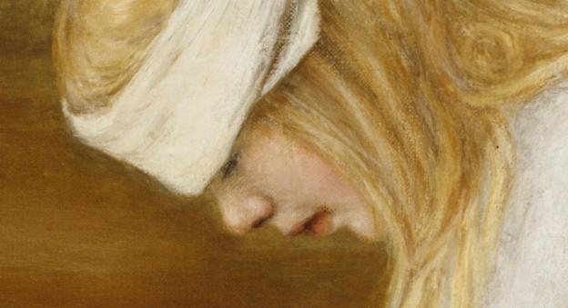 Hugo Simberg - Haavoittunut enkeli, yksityiskohta