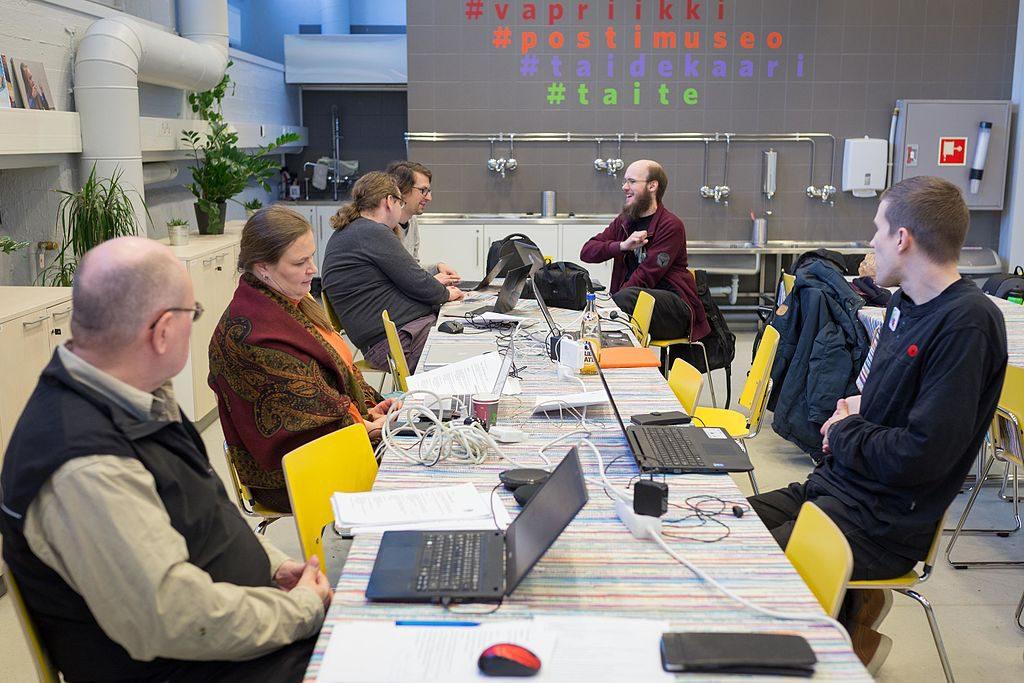 Syyskokouksen yhteydessä tutustuttiin myös Tampereen Vapriikissa tammikuussa avattavaan upouuteen Suomen pelimuseoon. Kuva: Olimar CC-BY-SA 4.0